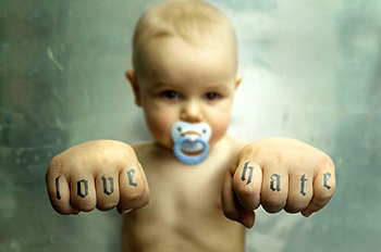 knuckle+tattoo+baby
